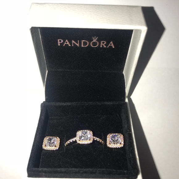 87c84ce5b7048 Pandora Timeless Elegance Ring and Earrings
